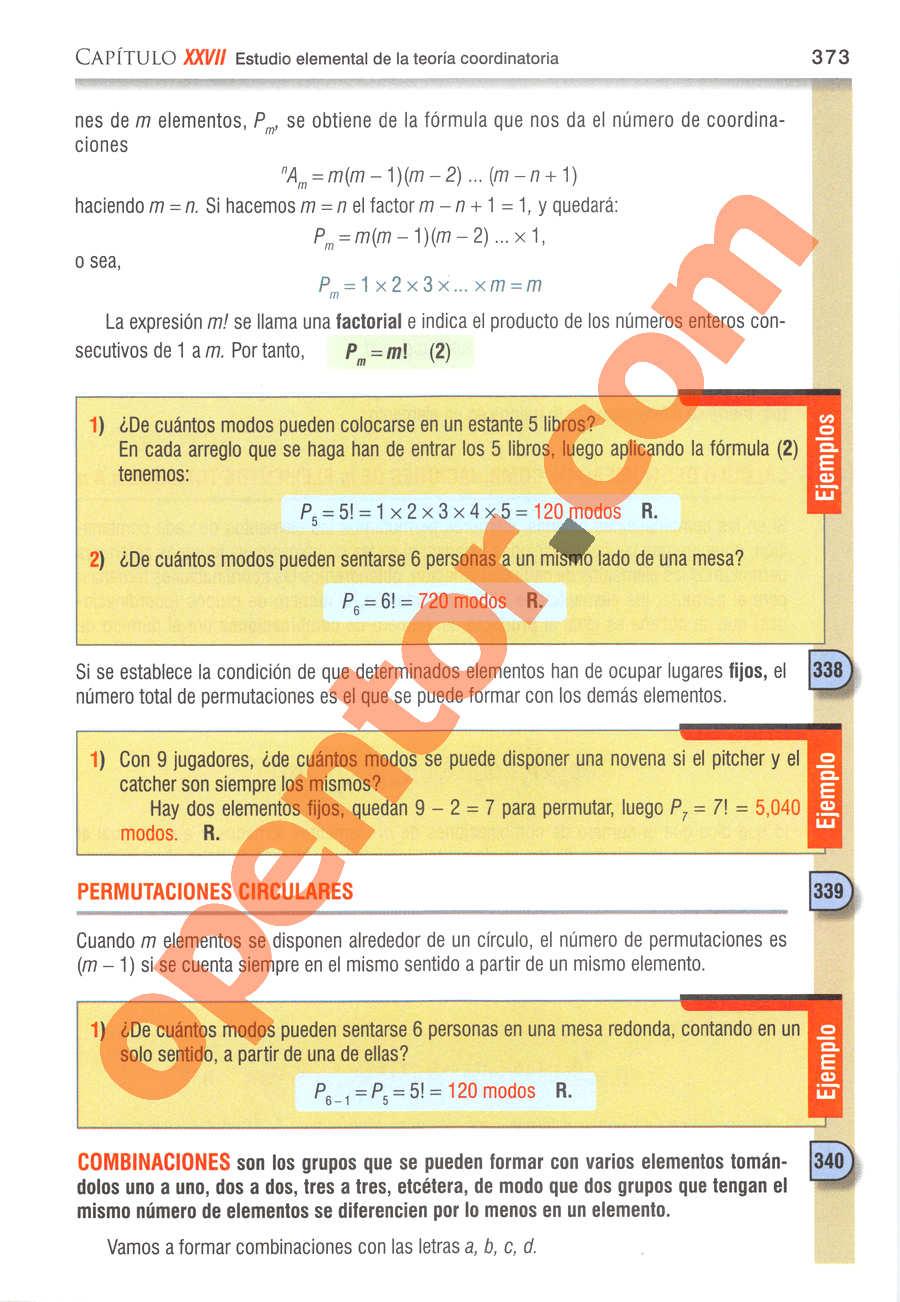 Álgebra de Baldor - Página 373