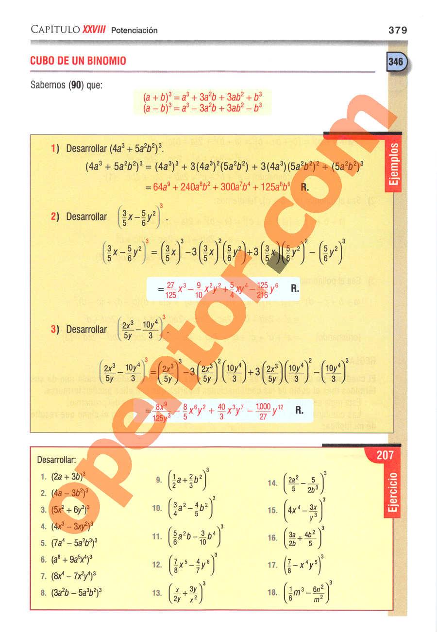 Álgebra de Baldor - Página 379