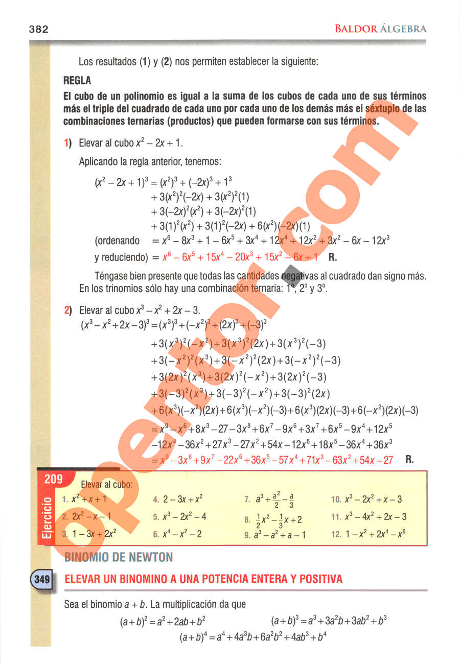 Álgebra de Baldor - Página 382