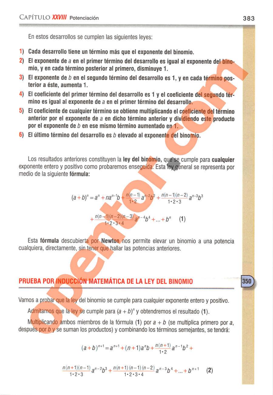 Álgebra de Baldor - Página 383