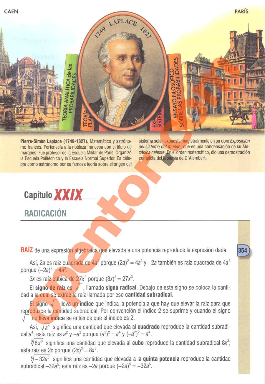 Álgebra de Baldor - Página 389