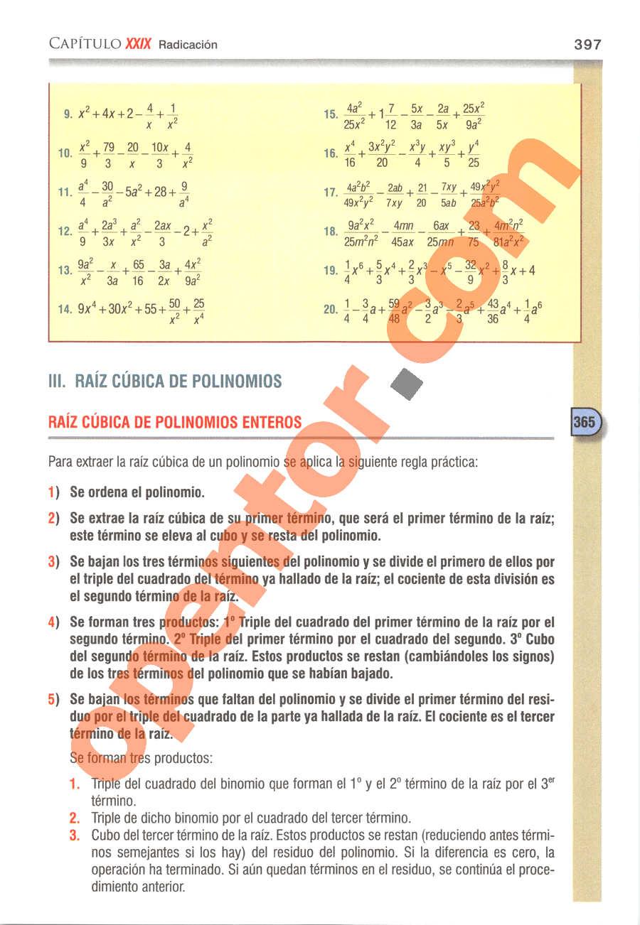 Álgebra de Baldor - Página 397