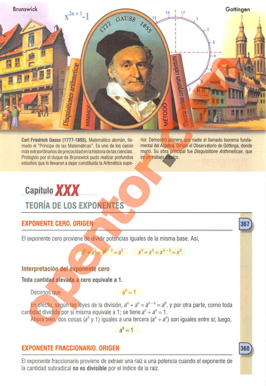 Álgebra de Baldor - Página 401