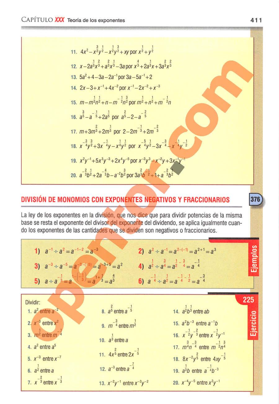 Álgebra de Baldor - Página 411
