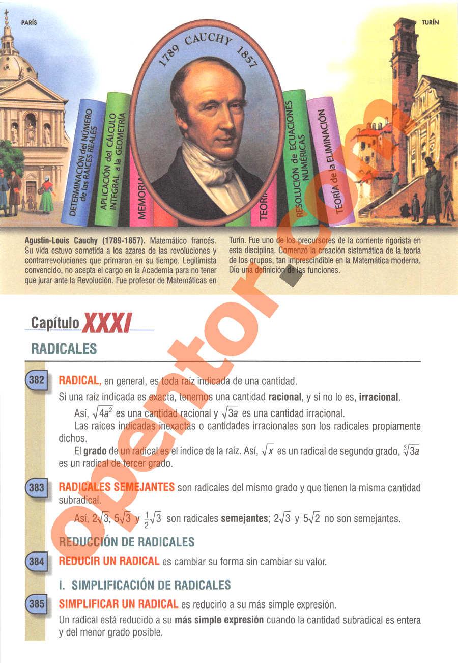 Álgebra de Baldor - Página 418