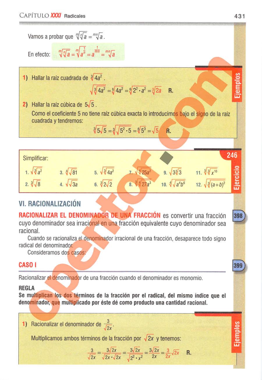 Álgebra de Baldor - Página 431