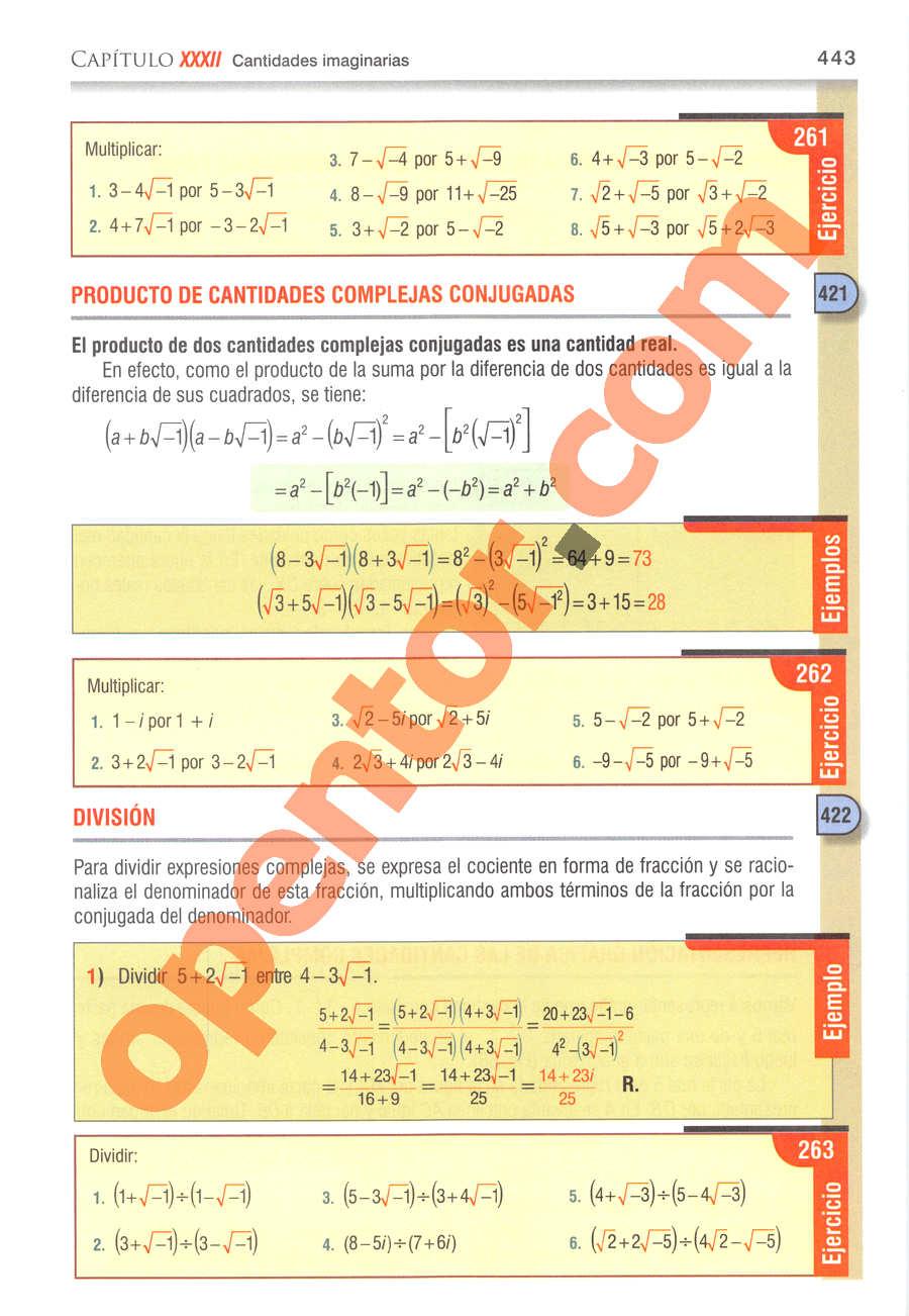 Álgebra de Baldor - Página 443