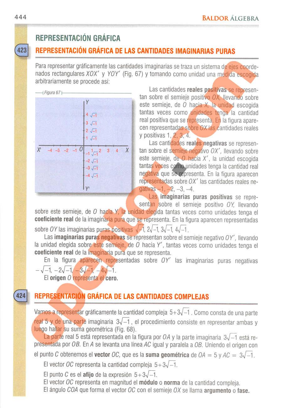 Álgebra de Baldor - Página 444