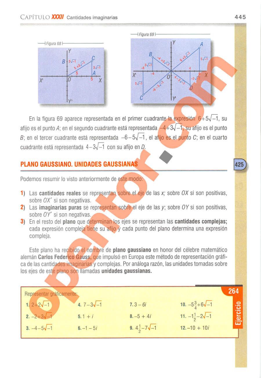 Álgebra de Baldor - Página 445