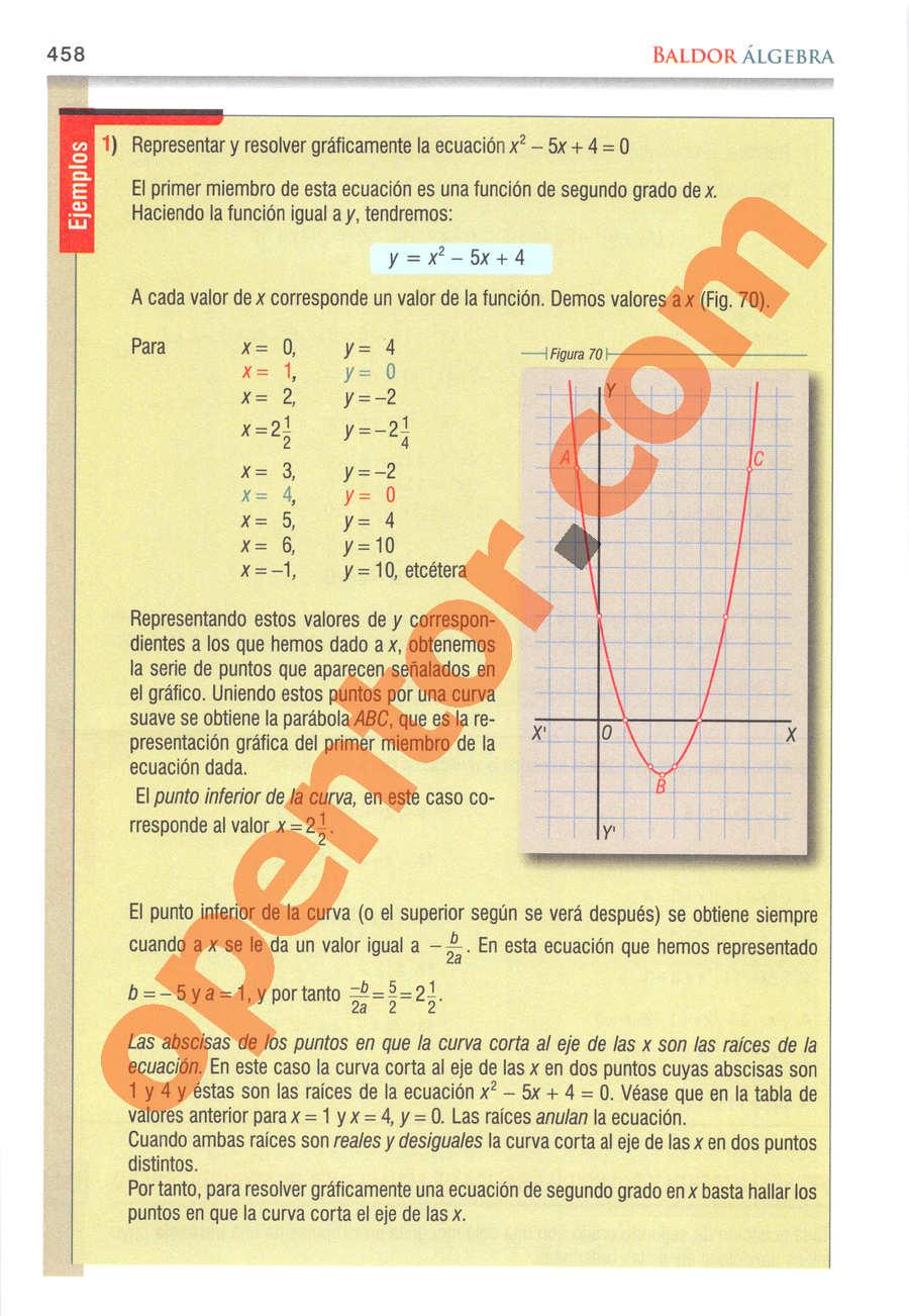 Álgebra de Baldor - Página 458