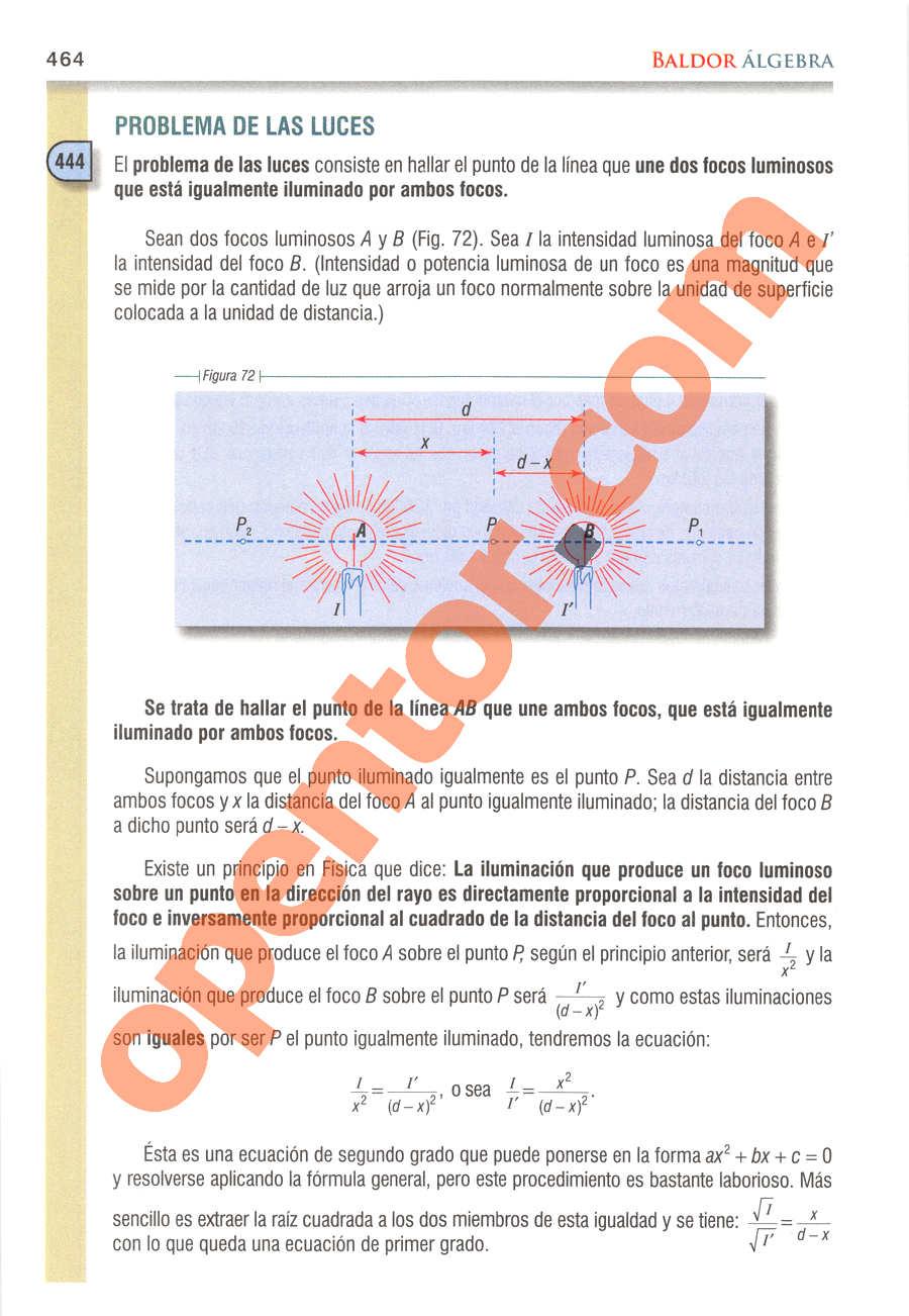 Álgebra de Baldor - Página 464