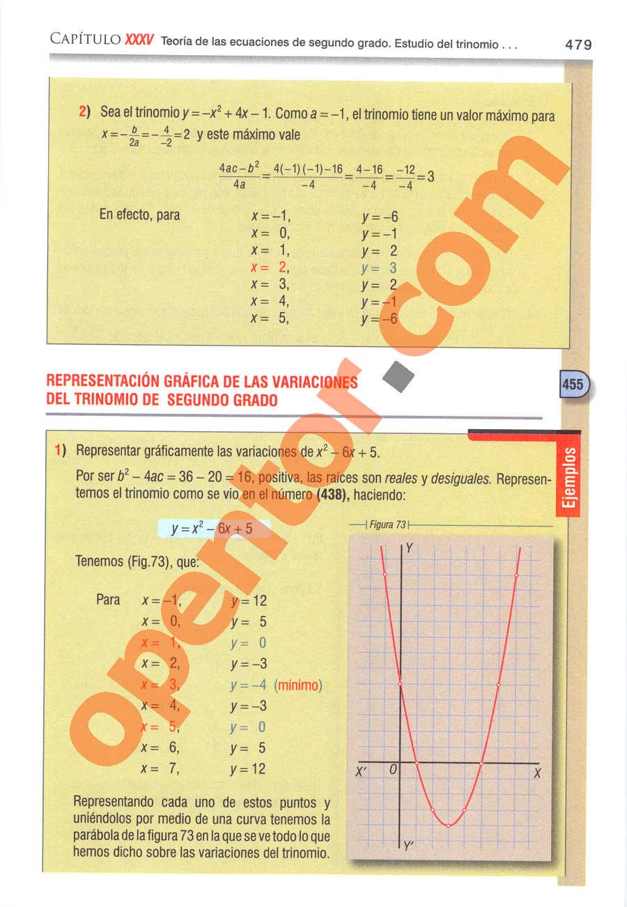 Álgebra de Baldor - Página 479