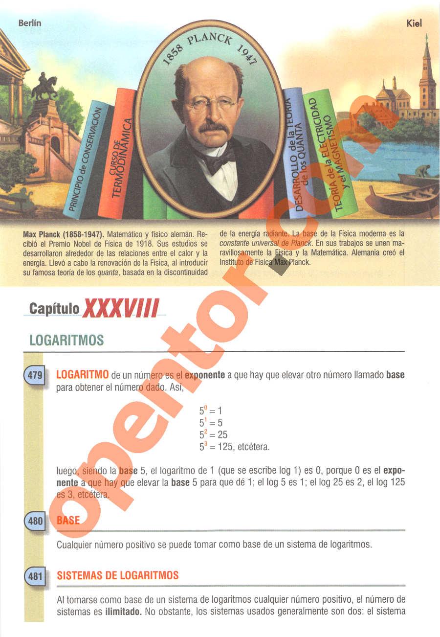 Álgebra de Baldor - Página 508