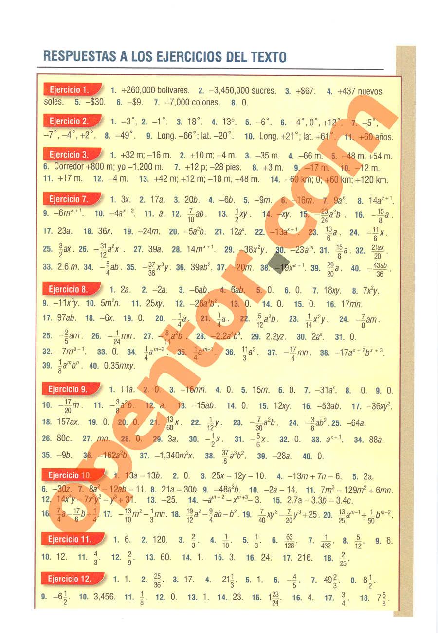 Álgebra de Baldor - Página 537
