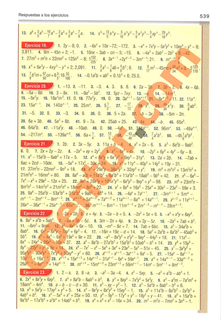 Álgebra de Baldor - Página 539