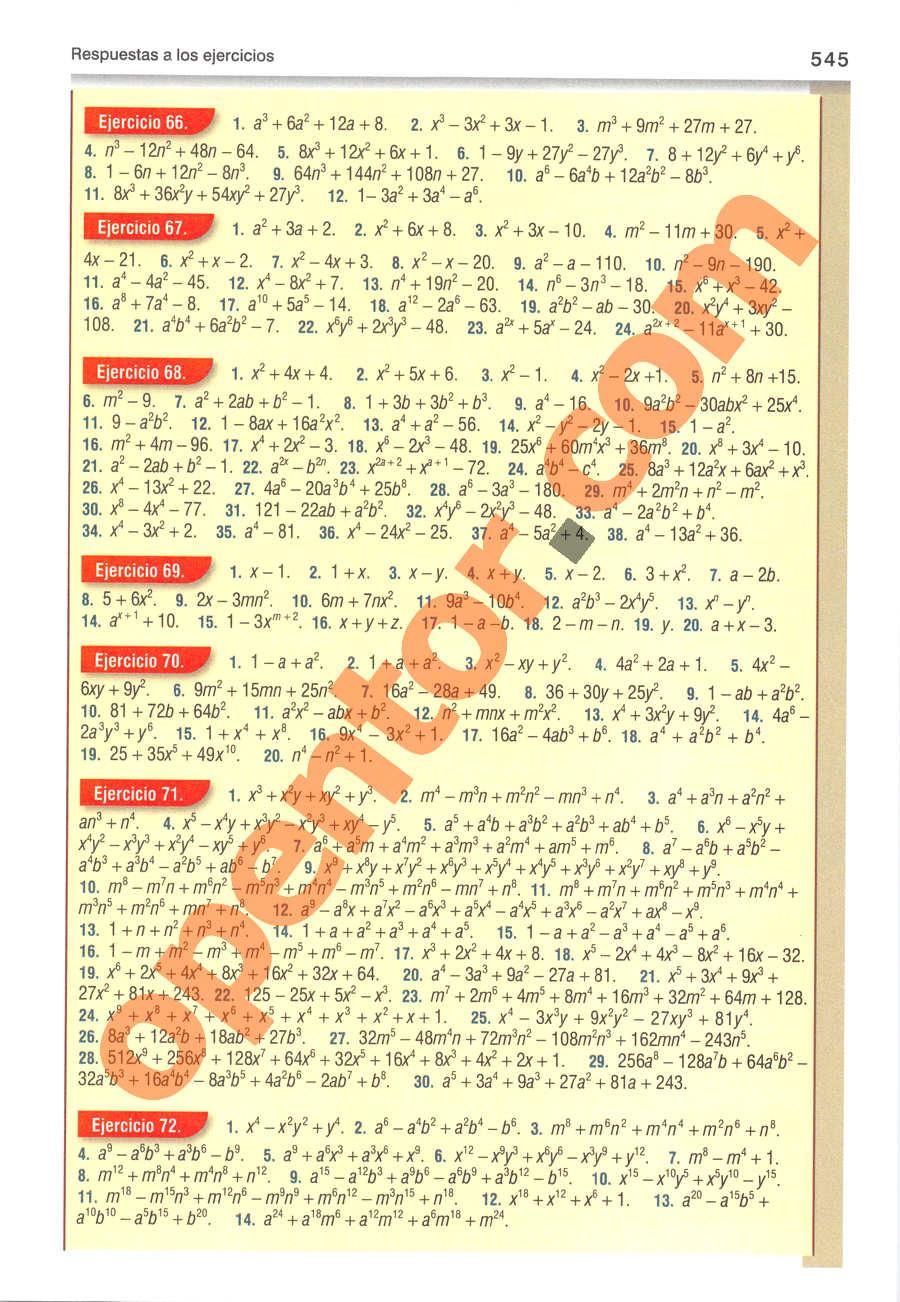 Álgebra de Baldor - Página 545
