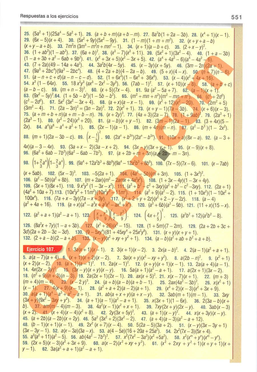 Álgebra de Baldor - Página 551
