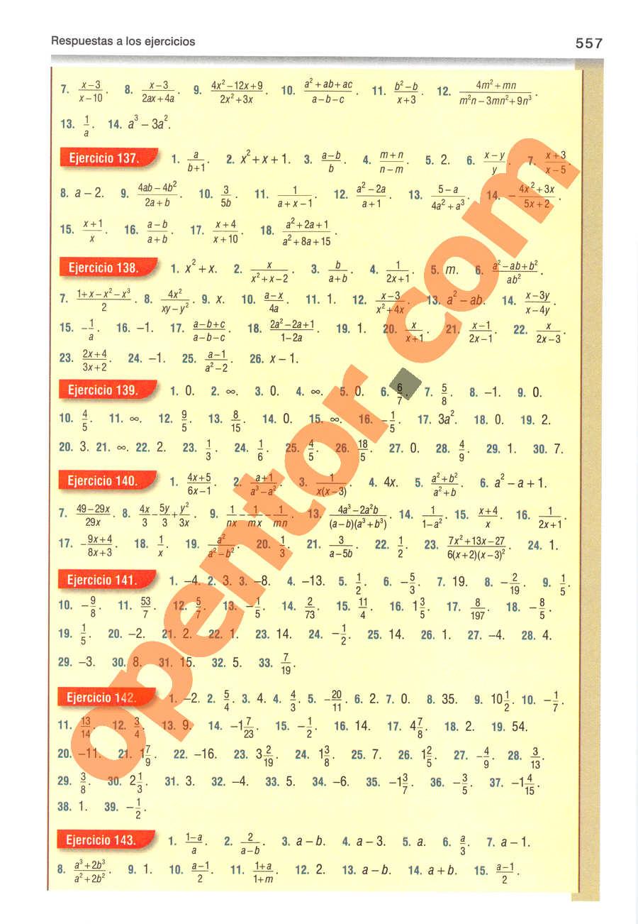 Álgebra de Baldor - Página 557