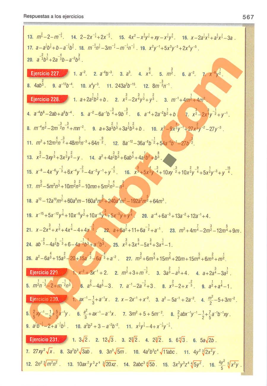 Álgebra de Baldor - Página 567