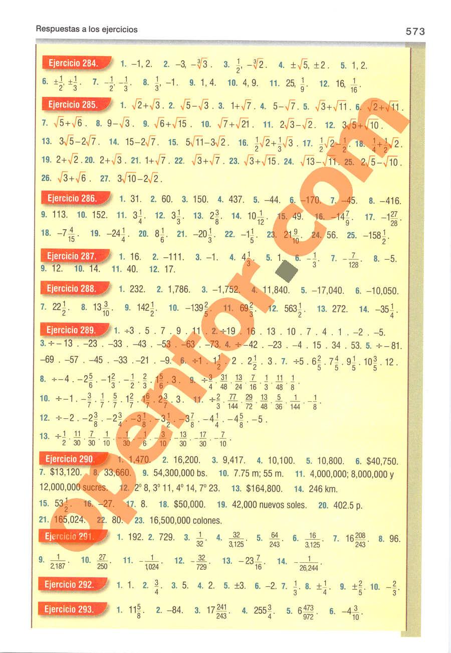 Álgebra de Baldor - Página 573