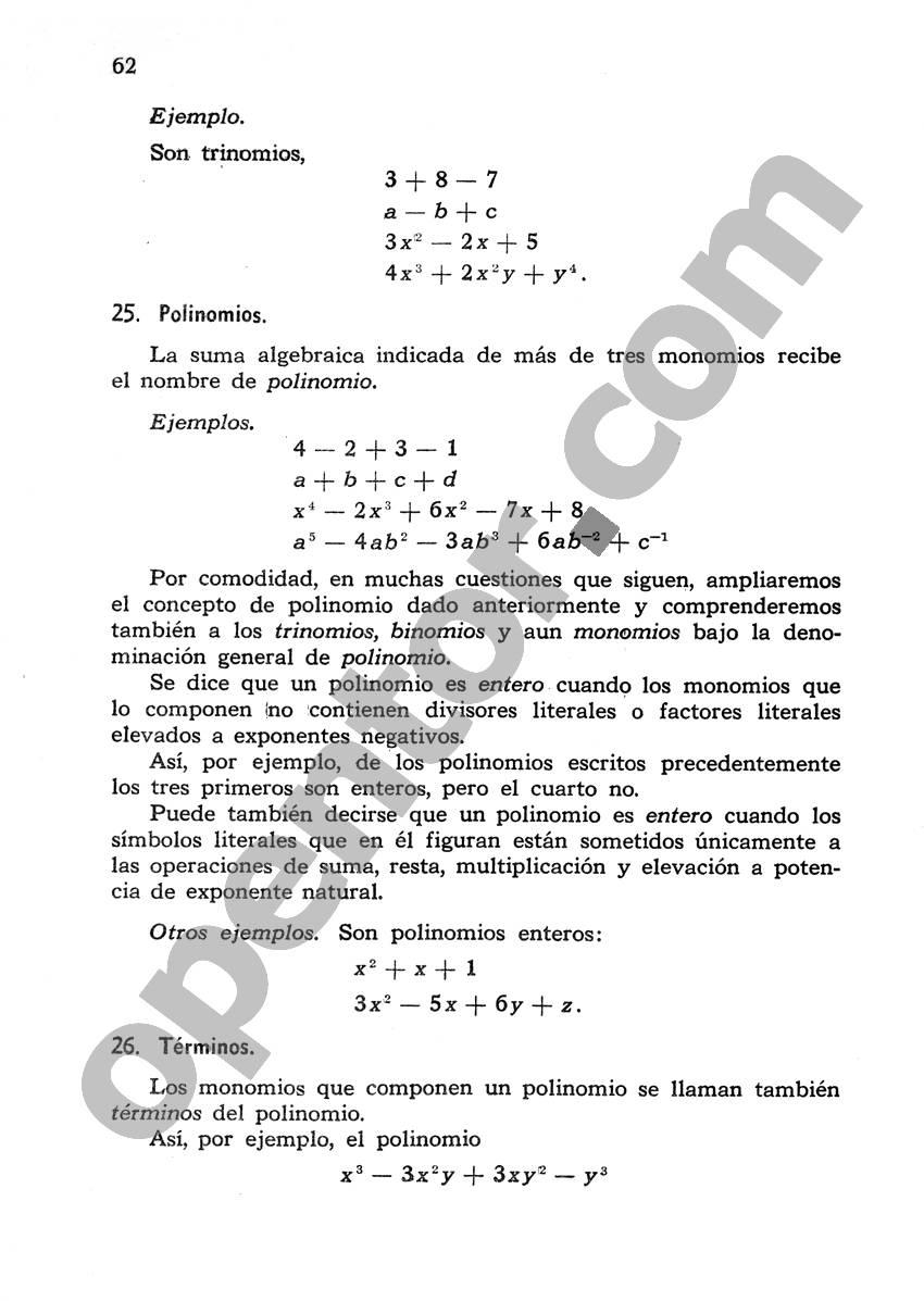 Álgebra de Mancil 1 - Página 62