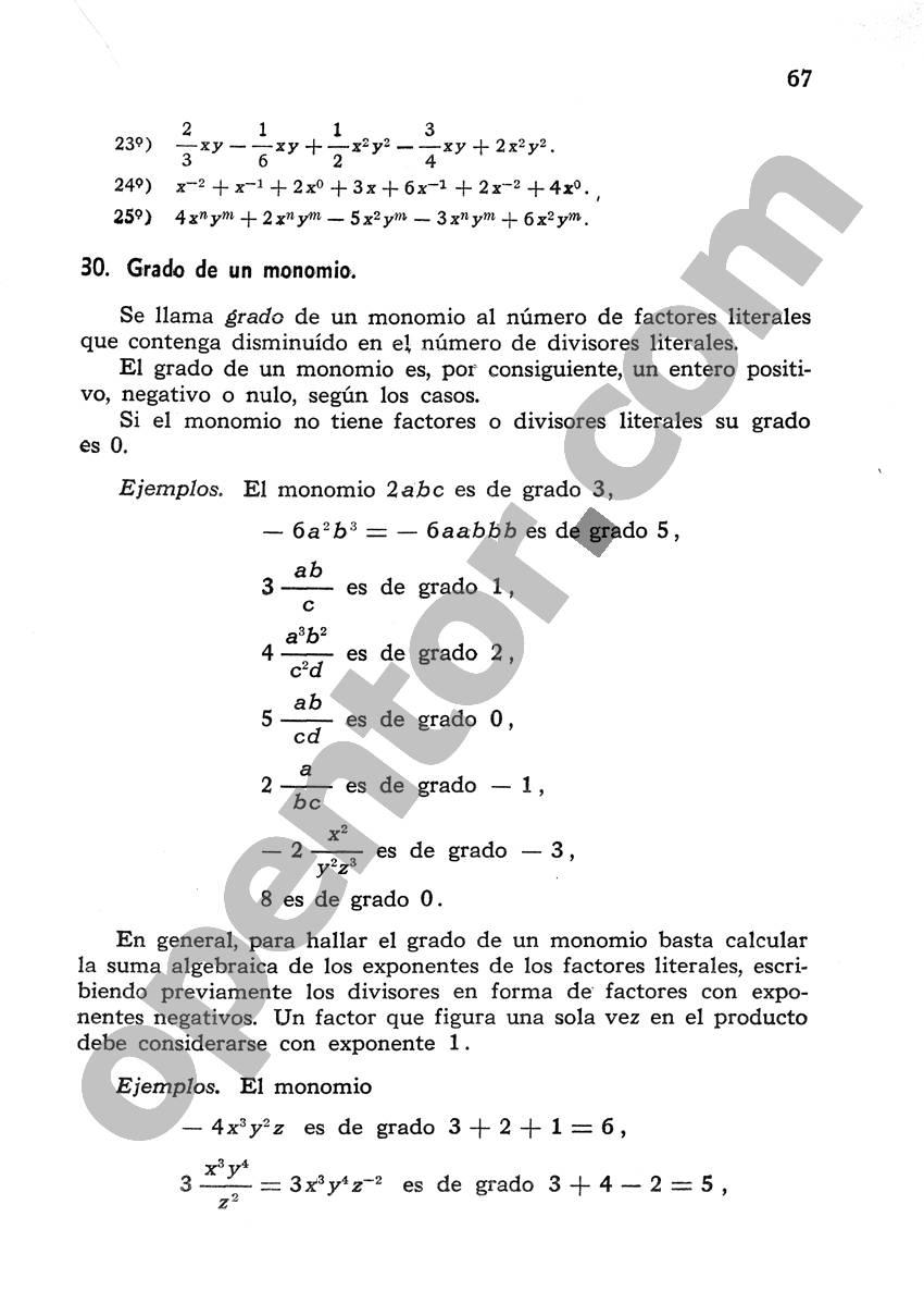 Álgebra de Mancil 1 - Página 67