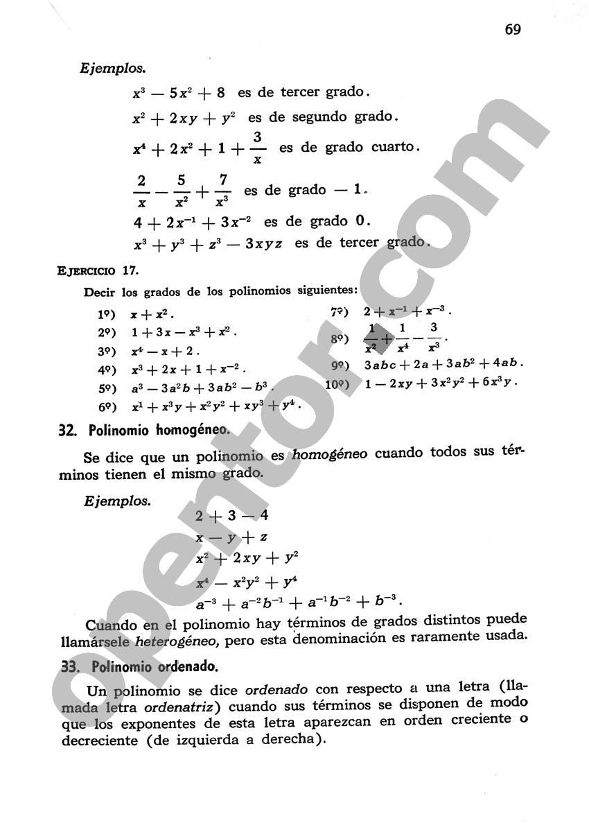 Álgebra de Mancil 1 - Página 69