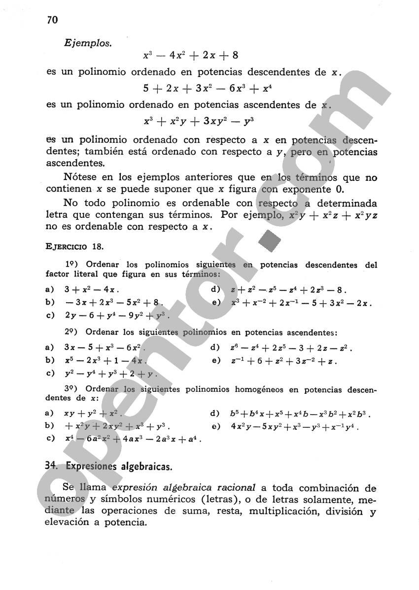 Álgebra de Mancil 1 - Página 70