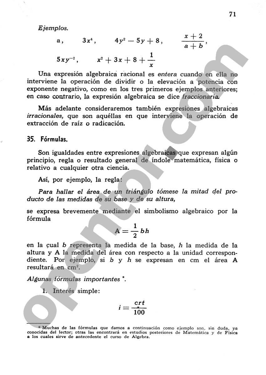 Álgebra de Mancil 1 - Página 71