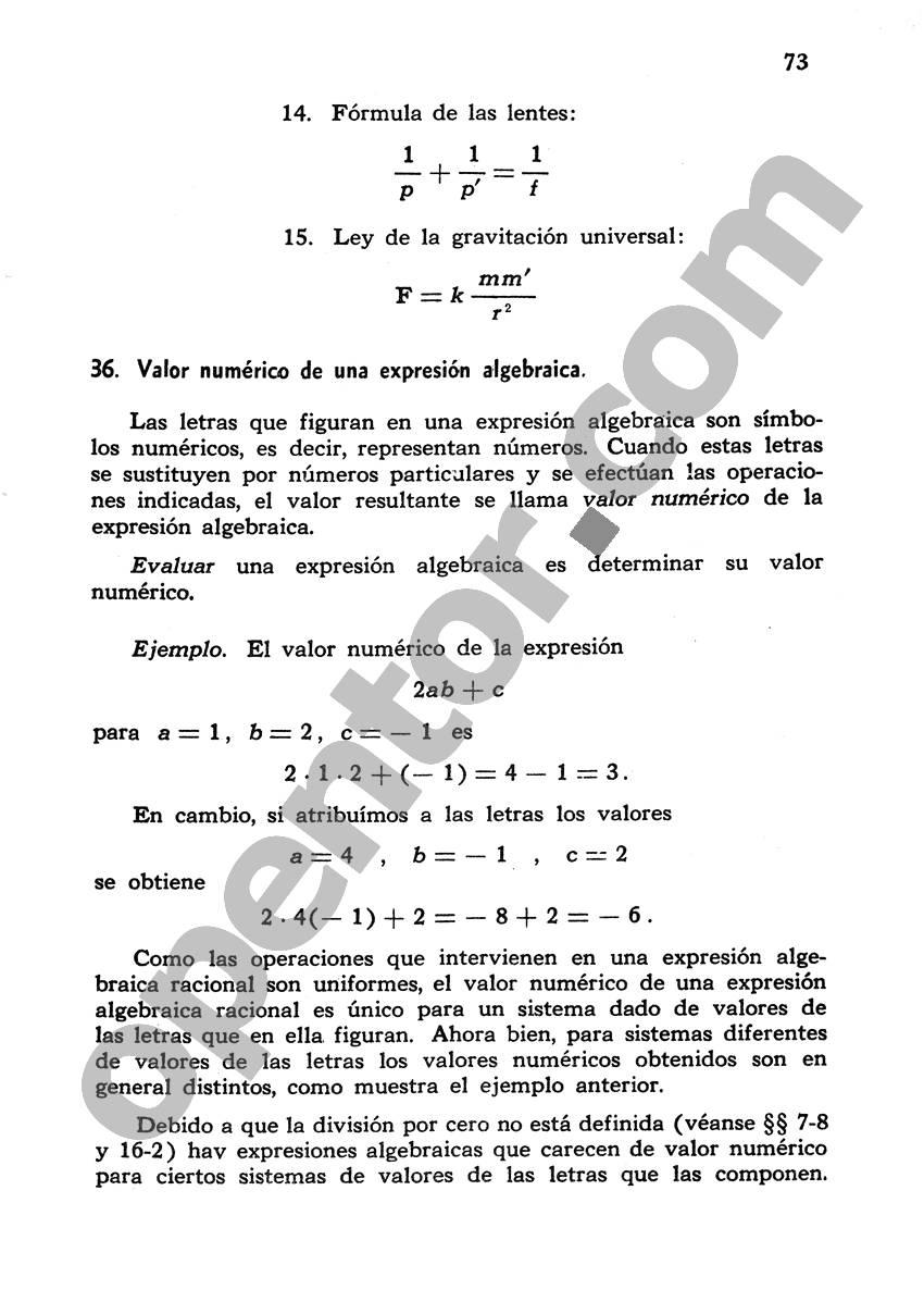 Álgebra de Mancil 1 - Página 73
