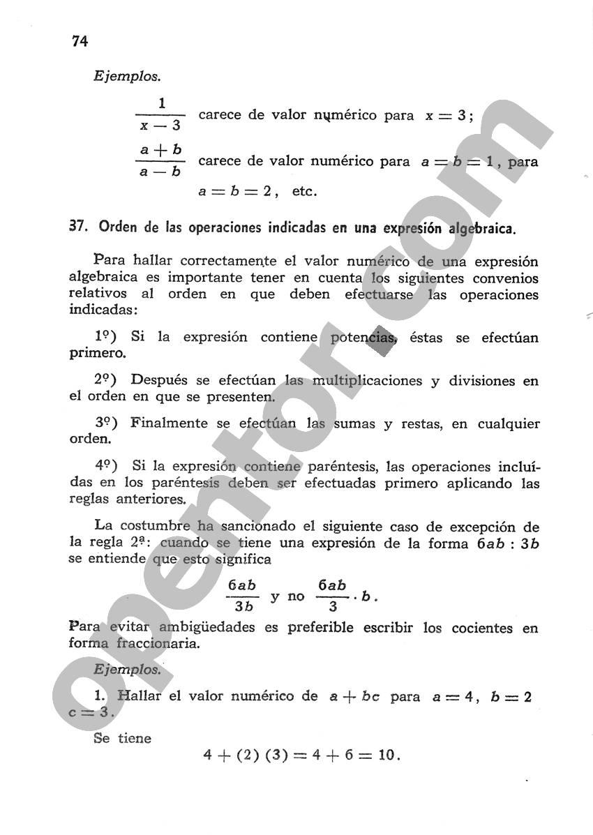 Álgebra de Mancil 1 - Página 74
