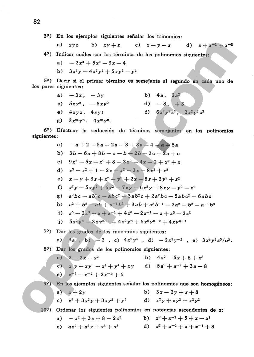 Álgebra de Mancil - Página 82