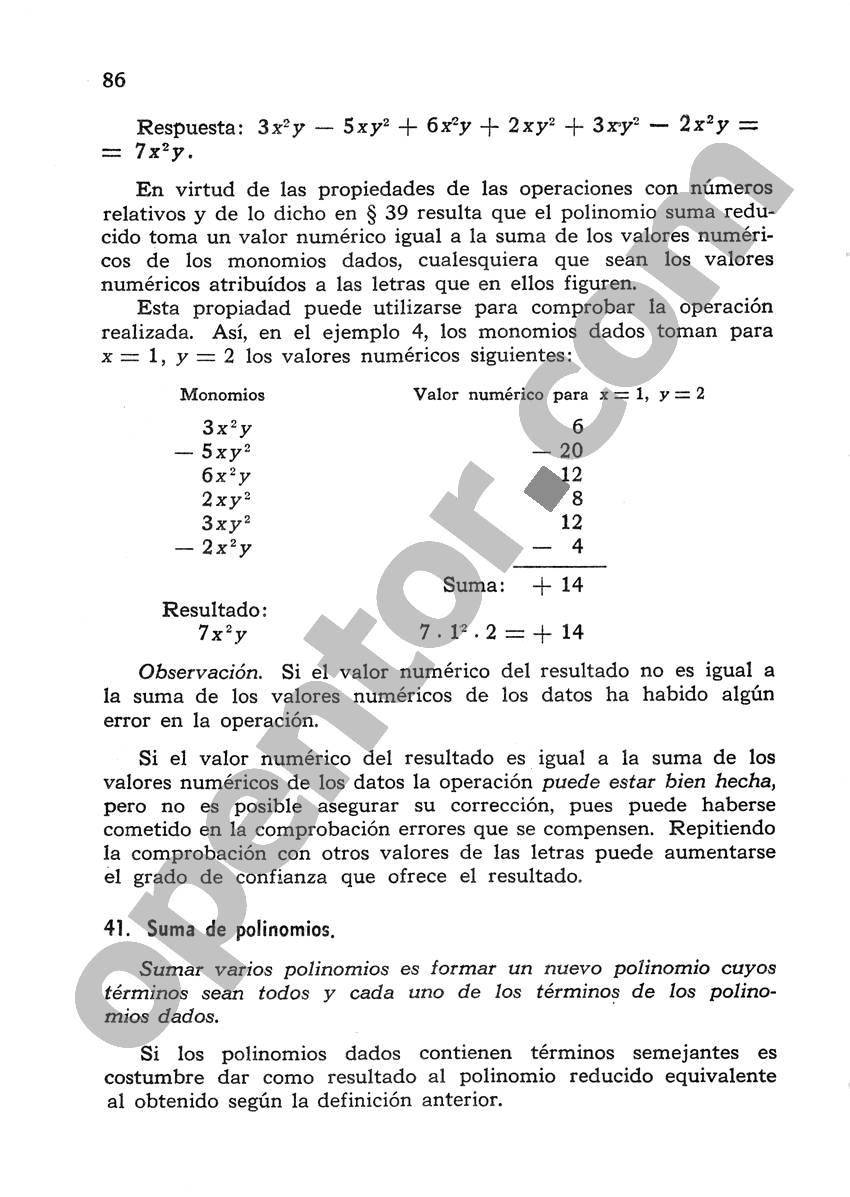 Álgebra de Mancil 1 - Página 86