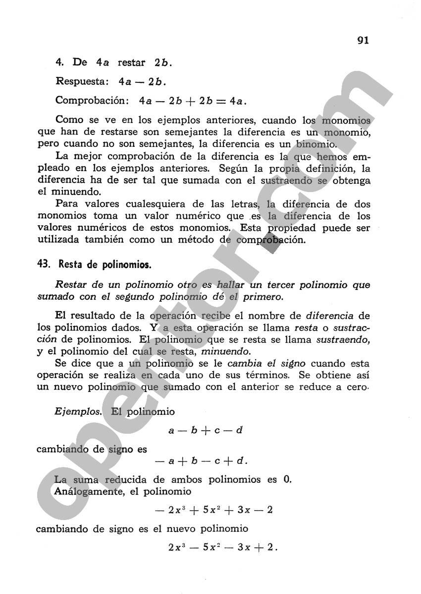Álgebra de Mancil 1 - Página 91