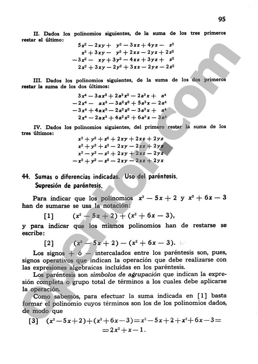 Álgebra de Mancil 1 - Página 95