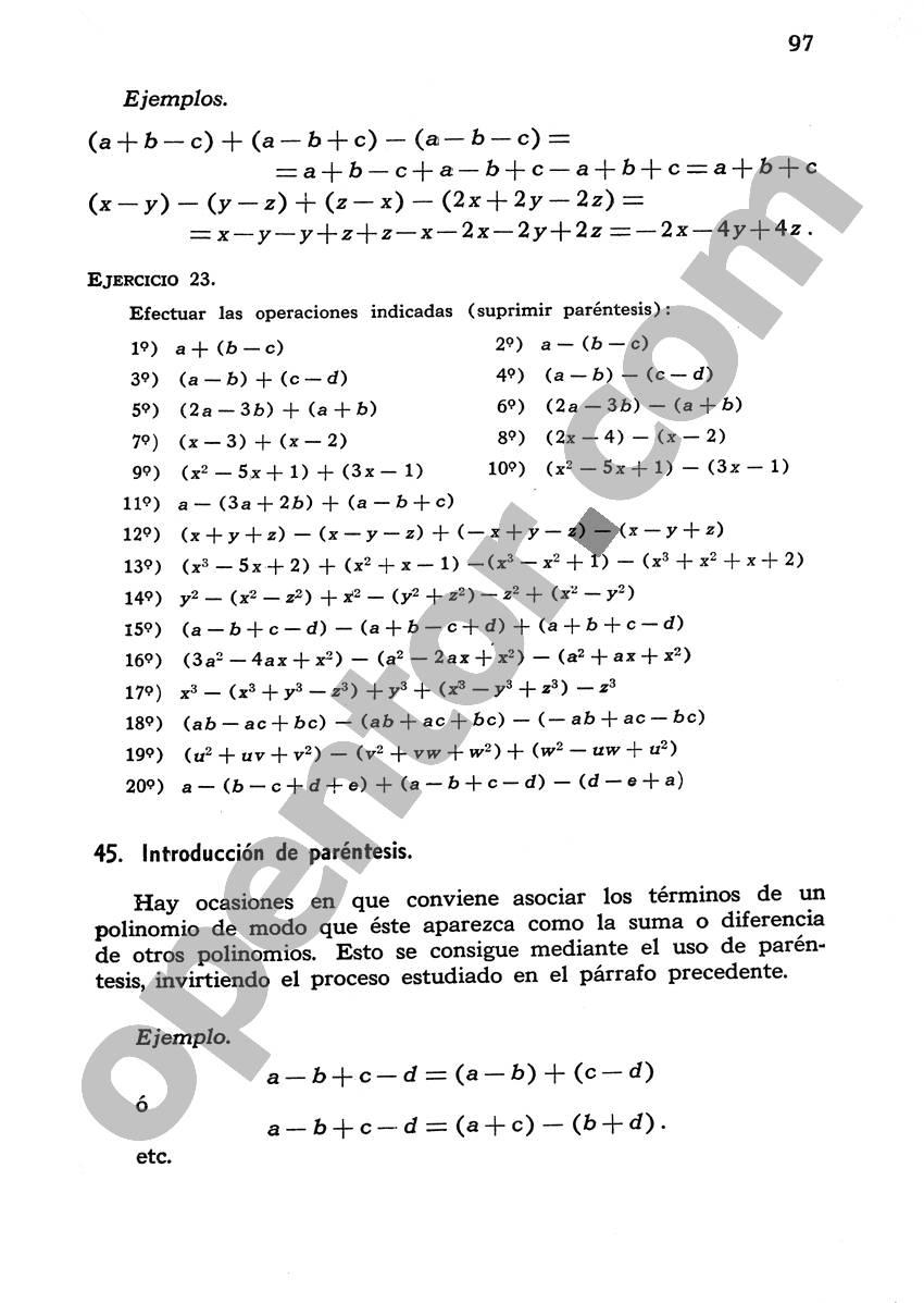 Álgebra de Mancil 1 - Página 97