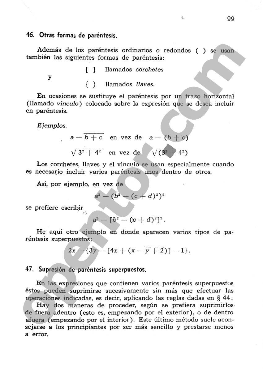 Álgebra de Mancil 1 - Página 99
