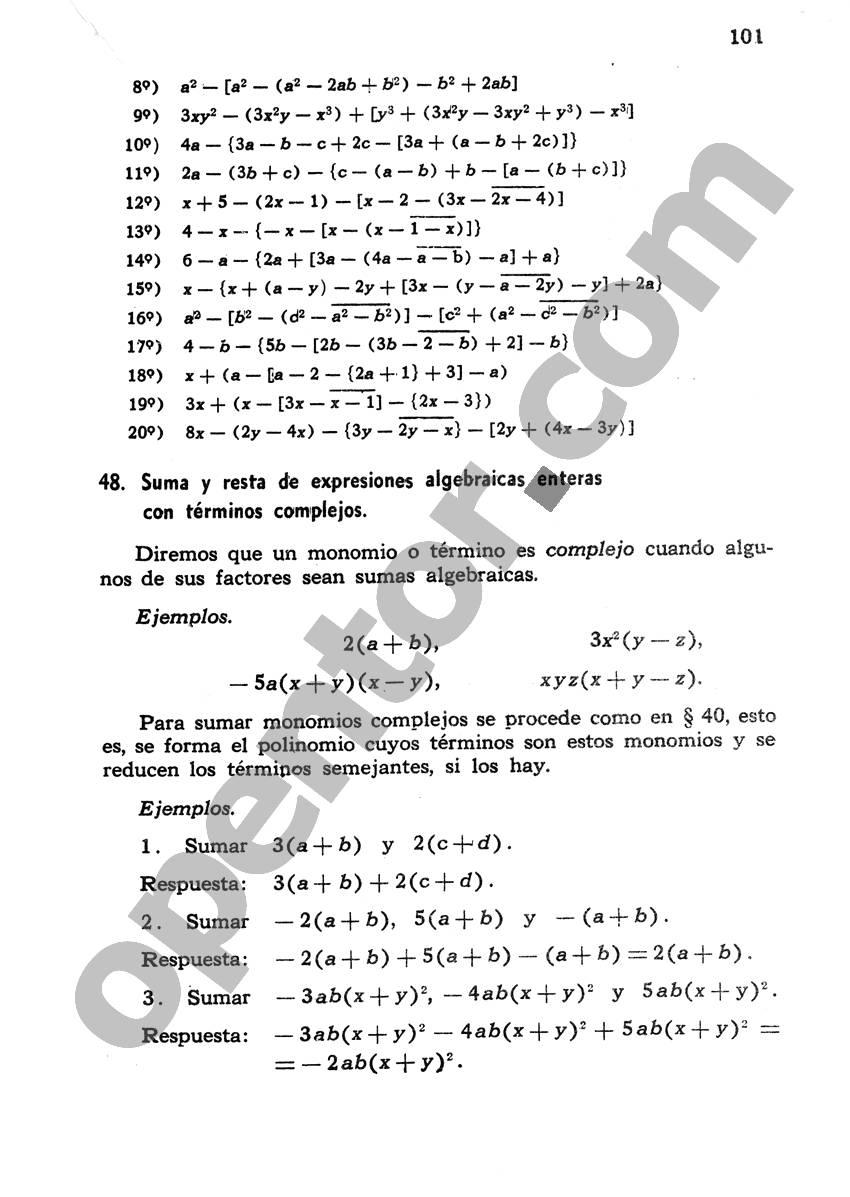 Álgebra de Mancil 1 - Página 101