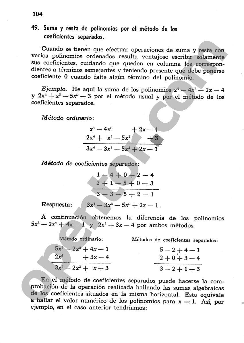 Álgebra de Mancil 1 - Página 104