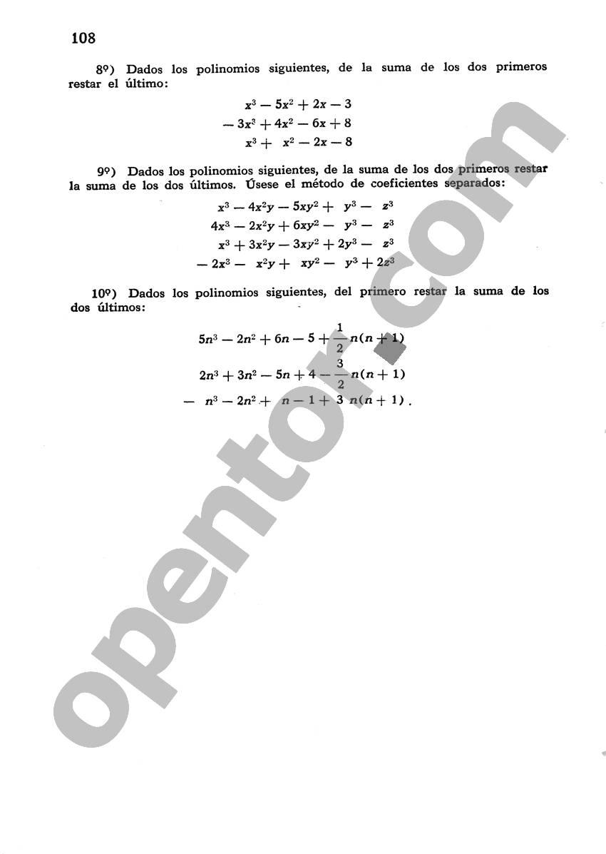 Álgebra de Mancil 1 - Página 108