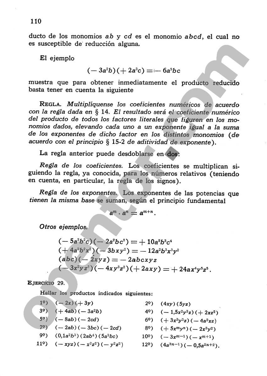 Álgebra de Mancil 1 - Página 110