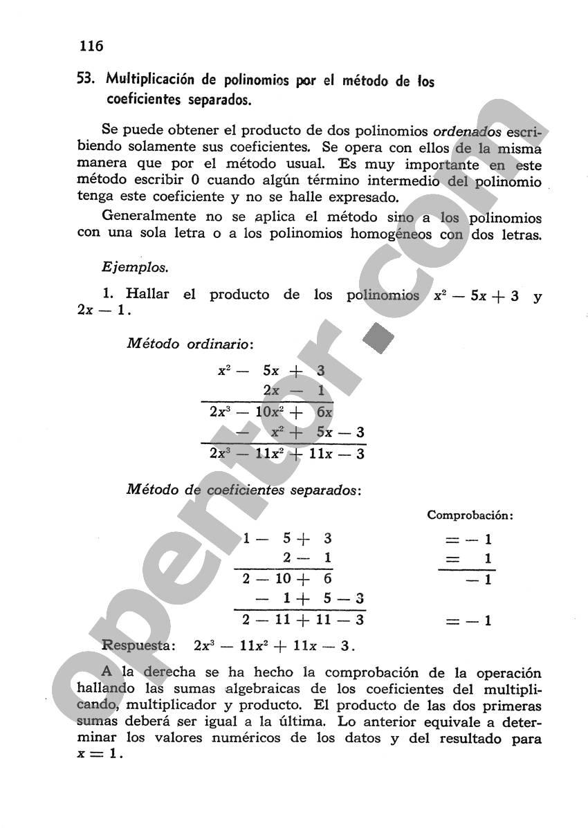 Álgebra de Mancil 1 - Página 116