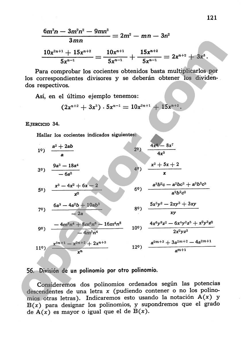 Álgebra de Mancil 1 - Página 121