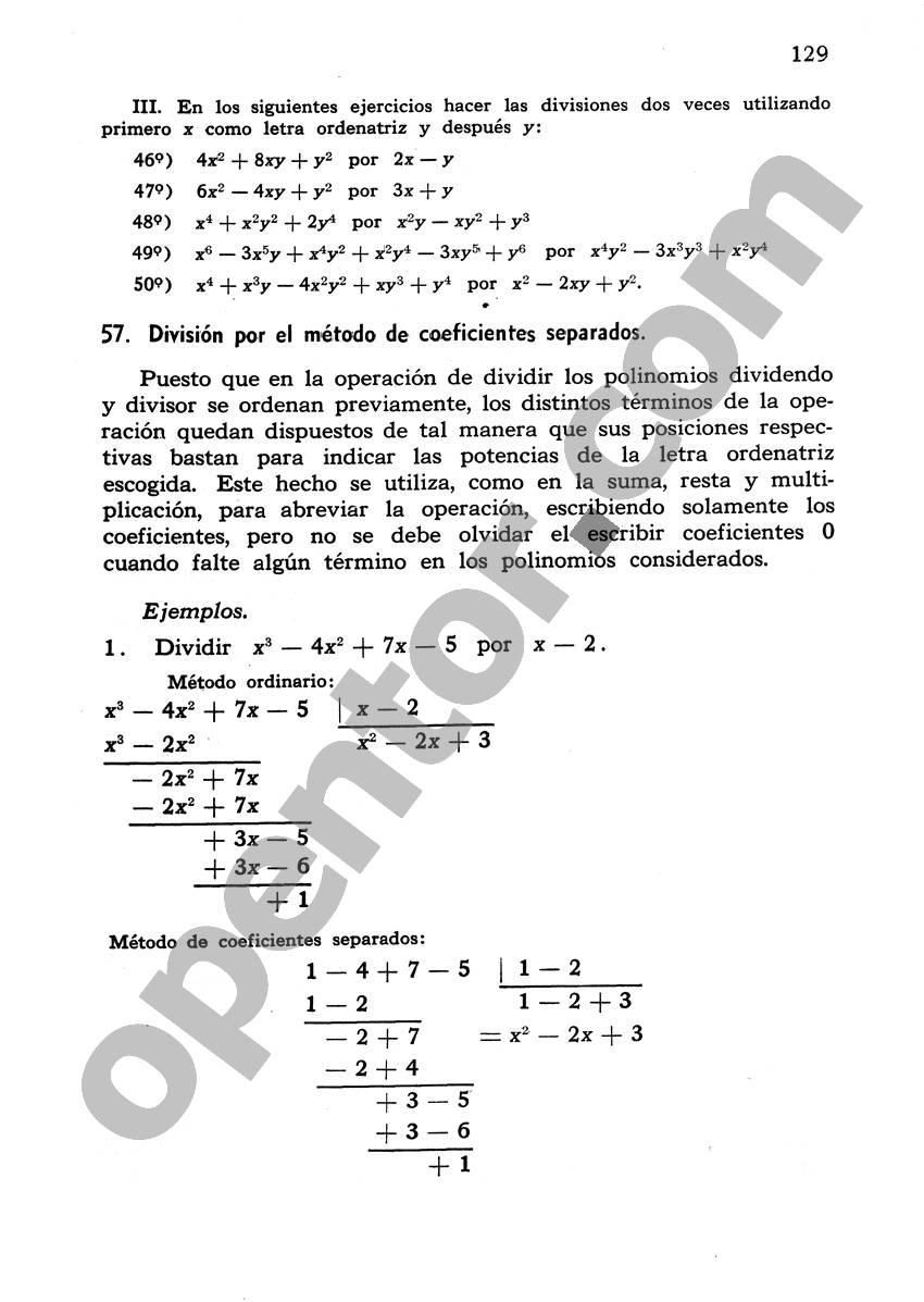 Álgebra de Mancil 1 - Página 129