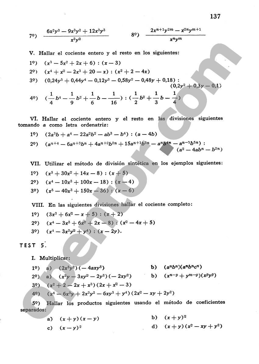 Álgebra de Mancil 1 - Página 137