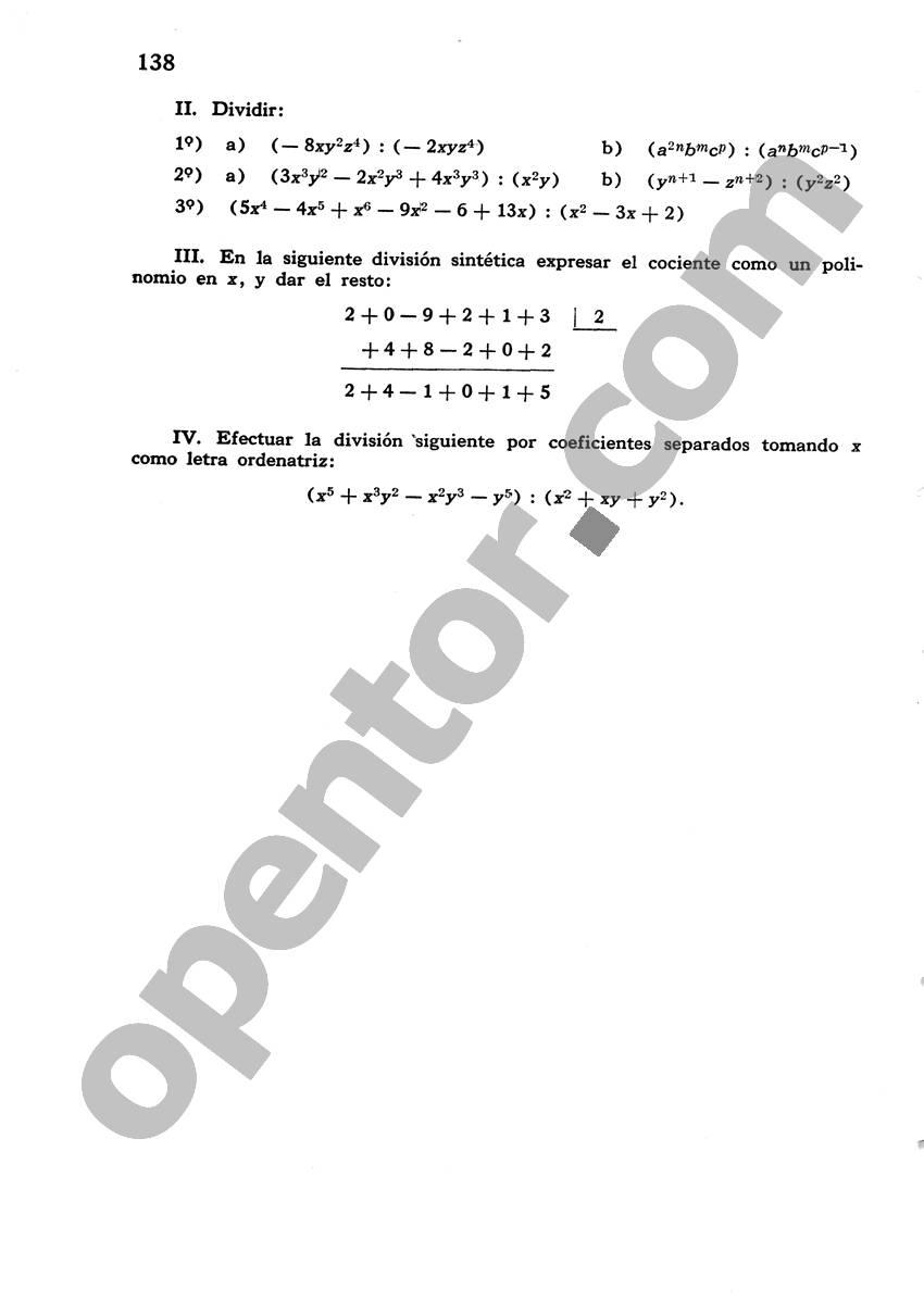 Álgebra de Mancil 1 - Página 138