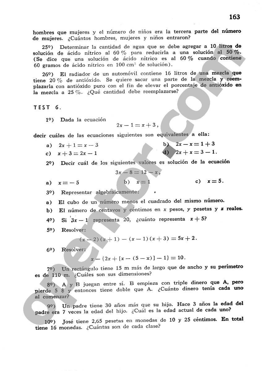 Álgebra de Mancil 1 - Página 163
