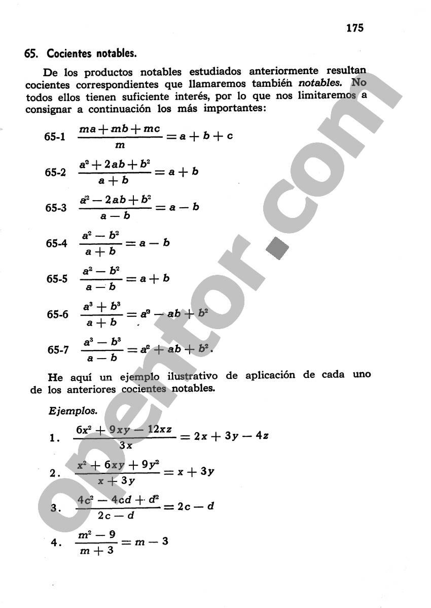 Álgebra de Mancil 1 - Página 175