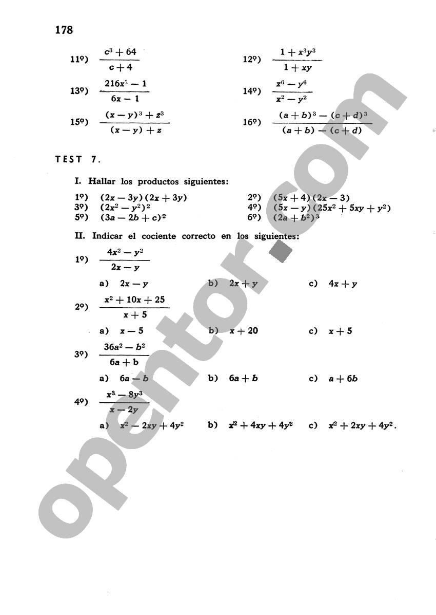Álgebra de Mancil 1 - Página 178