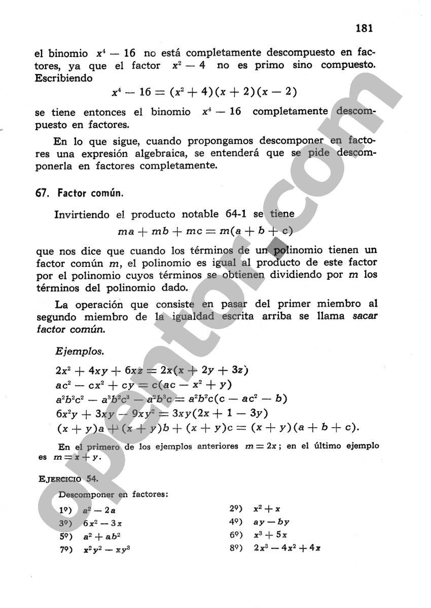 Álgebra de Mancil 1 - Página 181